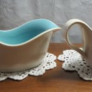 Taylor Smith & Taylor TST White with Blue Lined ~ Gravy Boat/Creamer No Decal