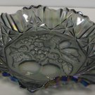 FEDERAL GLASS Fruit Pattern Pioneer Carnival Smoke Colored Centerpiece Dish