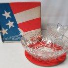 EAPC Early American Prescut Anchor Hocking 3 pc Chip n Dip Set in Original Box