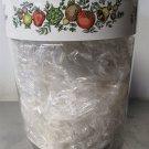 "Corning SPICE OF LIFE Storage Jar  & Lid 7 1/2 "" Tall"