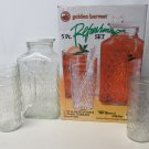 Anchor Hocking Golden Harvest Refreshment Pitcher and 4 Tumblers In Original Box