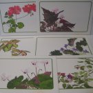 "Linda K Powell Placemats Floral Print 11X17"" Signed  6 Laminated Vintage"
