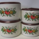 Corelle Spice of Life Set of Four Plastic Canisters with Lids