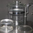 Vintage Pyrex 7759 Flameware 9 Cup Coffee Pot Stove Top Glass Percolator Maker