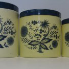 Blue Onion Retro Plastic Kitchen Canister Set 3 Total Gift Gallery on Bottom