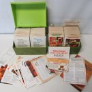 TWO 70's Betty Crocker Recipe Card Library Set of Two  w/Green File Box