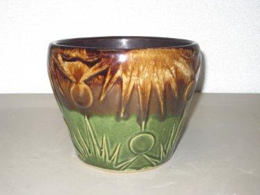 RRP Co Art Pottery Jardinière/Planter Roseville Ohio - Sun & Moon Pattern