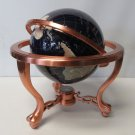 "LAPIS & MULTI GEM STONE WORLD GLOBE - 15"" TALL - 9"" WIDE - GLOBE"