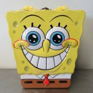 Spongebob Squarepants Shape Embossed Tin Metal Lunch Box