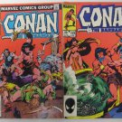 CONAN THE BARBARIAN > #137 Aug 1982 and #159 June 1984 Marvel Comics