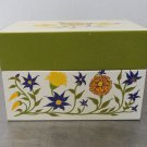 Vintage Retro Flowers METAL RECIPES FILE BOX for index cards Syndicate MFG. Co.