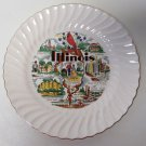 Illinois State Sheffield Souvenir Plate Gold Trim About 9 3/4""