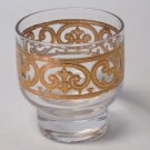 """Georges Briard Spanish Gold Glass Thick Base 3"""" Tall Vintage Signed"""