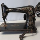 "Electric SINGER SEWING MACHINE MODEL 66 ""RED EYE"" FOR PARTS/RESTORATION Dirty"