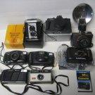 VINTAGE CAMERAS Mixed Lot Fuji, Ansco, Kodak, Canon, Capital, Meikai, Brownie