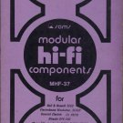 Sam Modular HiFi Components MHF-37 Electronics Only Manual