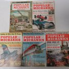 Vintage Popular Mechanics Oct 1958 May-Nov-Dec 1963 April 1964