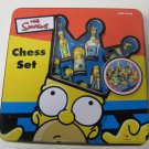 The Simpson's Chess Set Metal Box Tin Case Missing Instructions 1998 Tin Dented