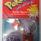 Pokemon Battle Figures Venomoth #49 & Venonat #48 & Poke Ball and Battle Discs