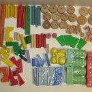 TinkerToy Playskool & Others Assort. Bulk Lot Wood Blocks Vintage Modern New Old
