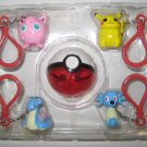 Pokemon Keyclip Gift Set Pokeball Jigglypuff Pikachu Lapras Horsea NO Box Vintag