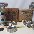 TWO(2) Rival 358 Grind-O-Mat Meat Grinder Food Chopper Vac-O-Matic Base Vintage