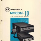 Motorola Manual MOCOM 10 25-50 MHZ FM Two Way Radio #68P81010E40-C 1973
