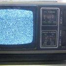"VINTAGE LIBERTY Portable 5"" Black White TV Television AM FM UHF VHF Radio"