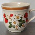 Sheffield Stoneware Strawberries n' Cream Teacup Cup Mug Japan Vintage
