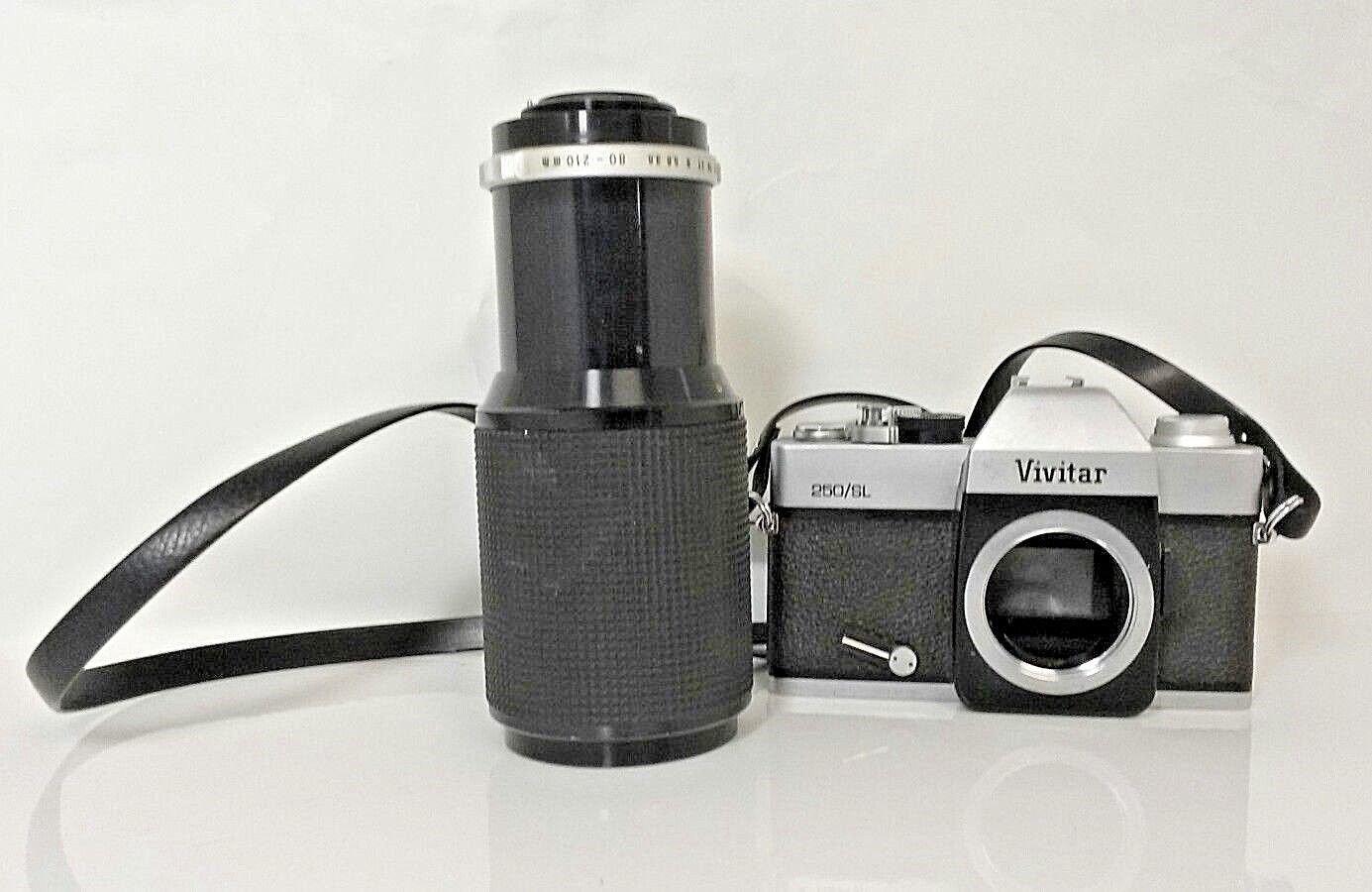 Vivitar 250/SL Camera & Soligor Auto-Zoom 1:3.8 f=80-210mm No32761257 Lens