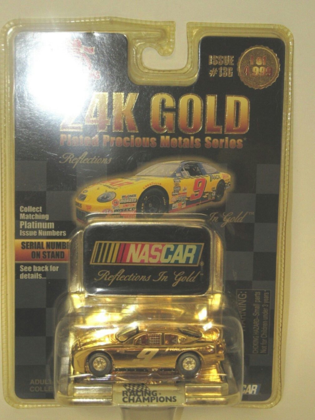 24K Reflections in Gold #9  Racing Champions  Diecast 1/64