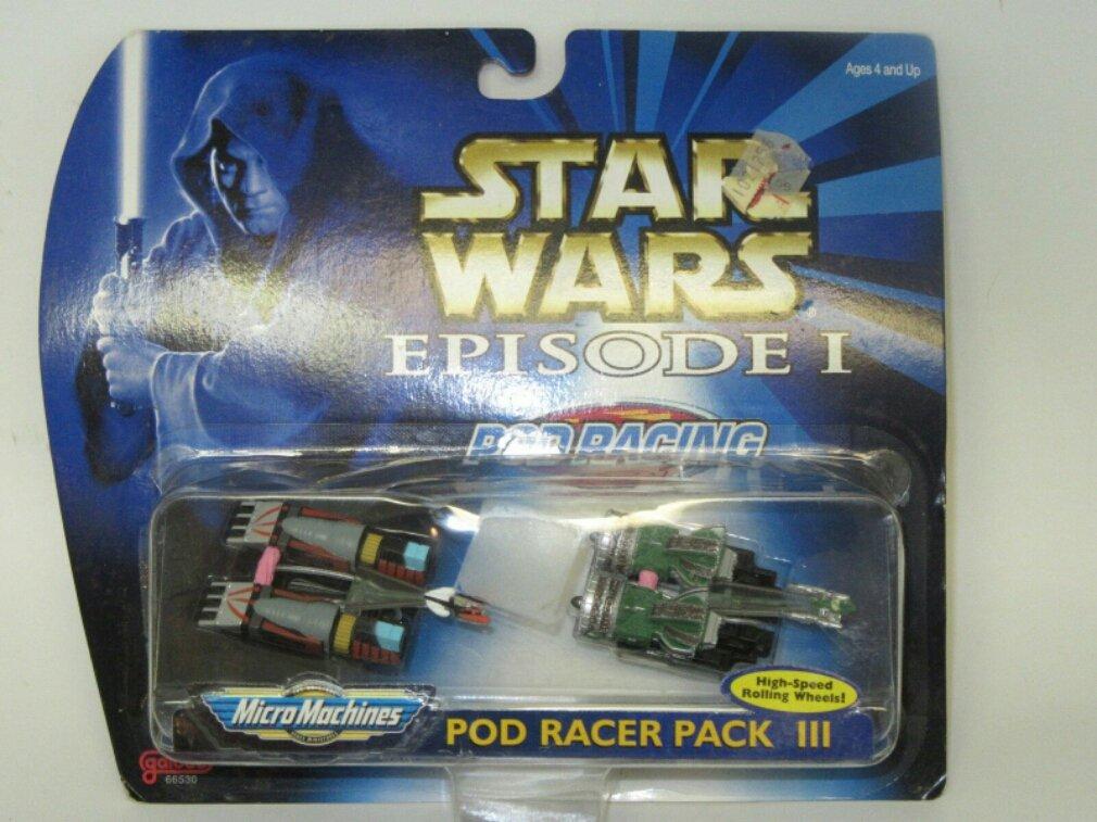 Star Wars Episode I Galoob Micro Machines Pod Racing Pod Racer Pack 3