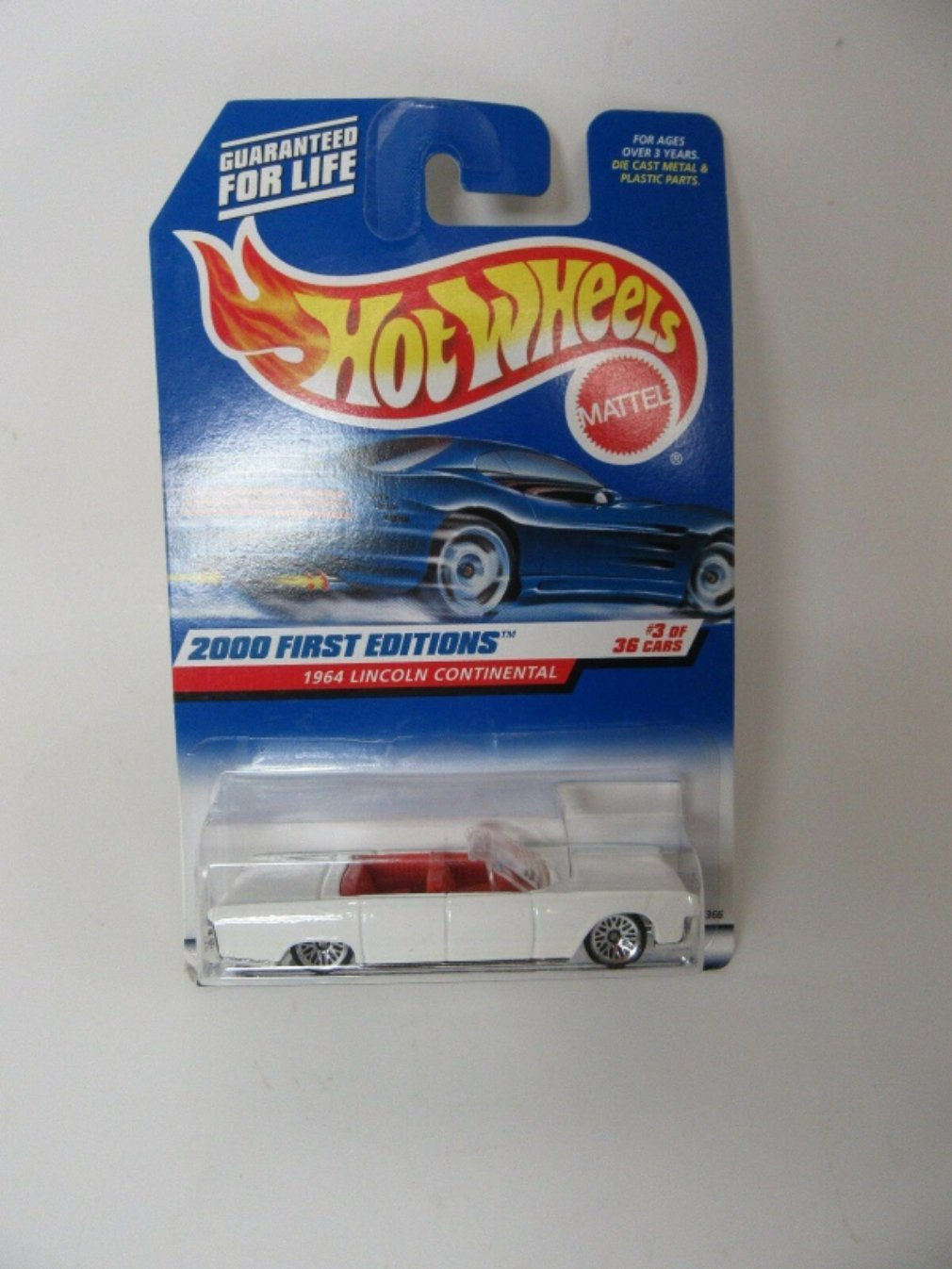 2000 Hot Wheels First Editions 1964 Lincoln Continental Car #3 of 36 NOS