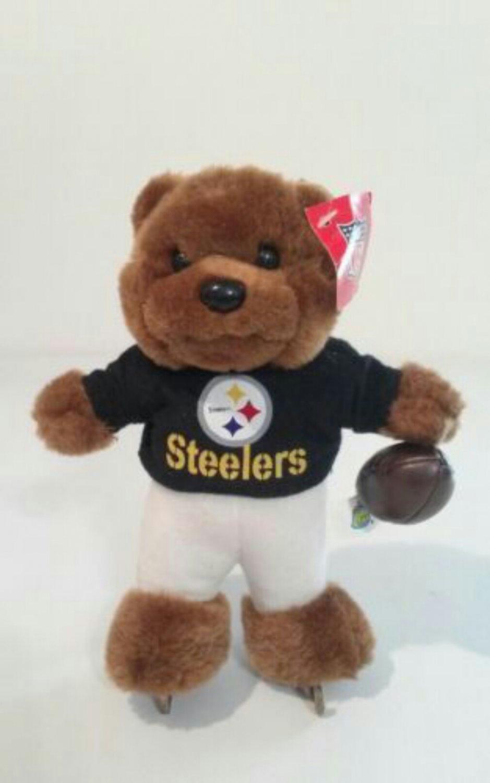 "PITTSBURGH STEELERS 8"" GOOD STUFF NFL FOOTBALL PLUSH TEDDY BEAR 2002"