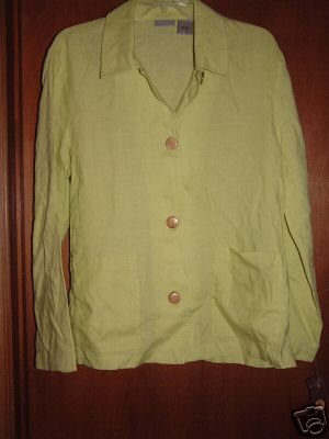 NWT's Speigel Washable Linen Shirt Jacket sz S