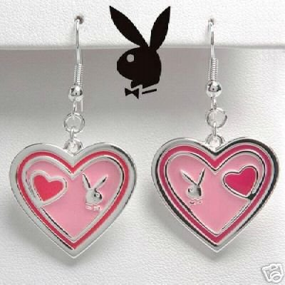 Playboy Enamel and Stainless Earrings NEW