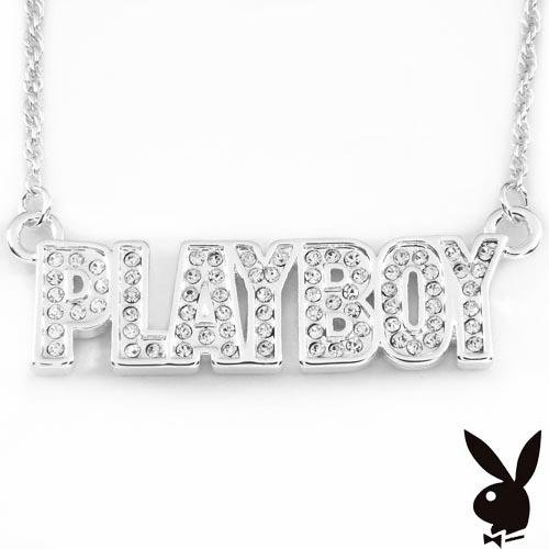 Playboy Necklace CZ's Stainless Steel MSRP $159