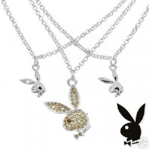 Playboy CZ Necklace NEW MSRP $169