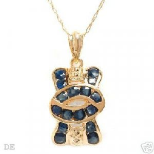 Genuine Sapphire 14K Gold Necklace MSRP $725.00