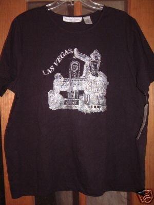 NWT's Victoria Jones Las Vegas Black Casual Shirt sz 1X