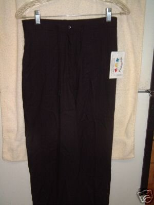 NWT's Weekend Clothesline Black Cropped Slacks sz S $52