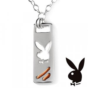 Playboy Pendant Stainless Steel New!