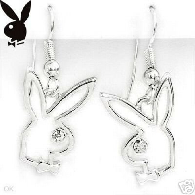 Playboy Bunny Stainless Steel Earrings NEW!