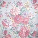 Cotton Fabric - Garden Flowers Bouquet - Light Blue