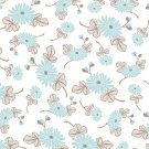 Cotton Fabric by Tokyo Rococo designs - Patt 5638 - White - Flowers