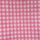 Cotton Fabric - Pink and White Square Patterns
