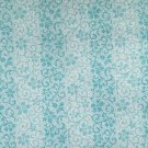 Cotton Fabric - Flowers and Stripes prints - Blue