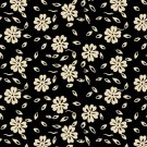 Fabric - Garibaldi II by Sara Morgan - PATT 7643 - Black