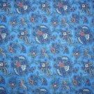 Paisley Blue Cotton Fabric