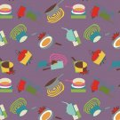 Cotton Fabric - Happy Days by Newcastle Studio - Kitchen Utensils designs